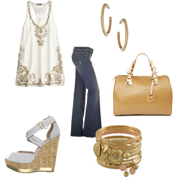 a touch of gold., created by stella-vraila on Polyvore