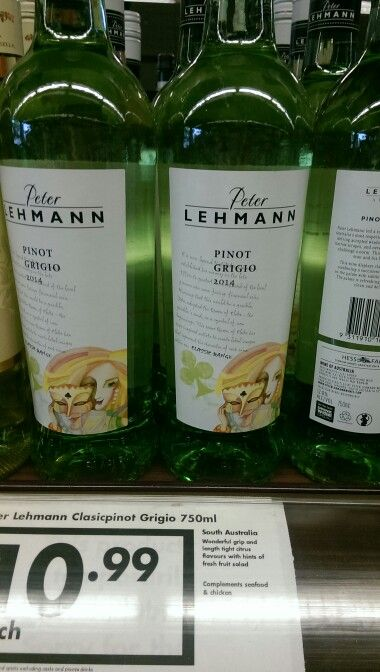 Any of Peter Lehmann's wines that are under $15 are well worth trying... This pinot grigio is no exception... Yummy!!!