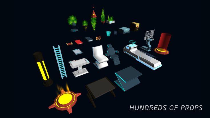 3D Modular Sci-Fi Environment Pack on Unity Asset Store 9