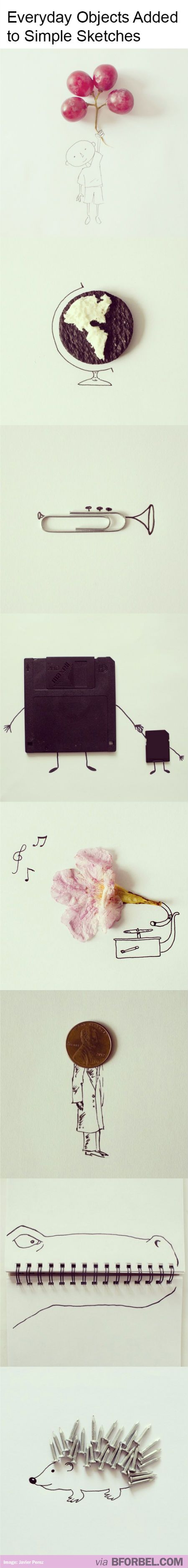 Turning everyday objects into whimsical art