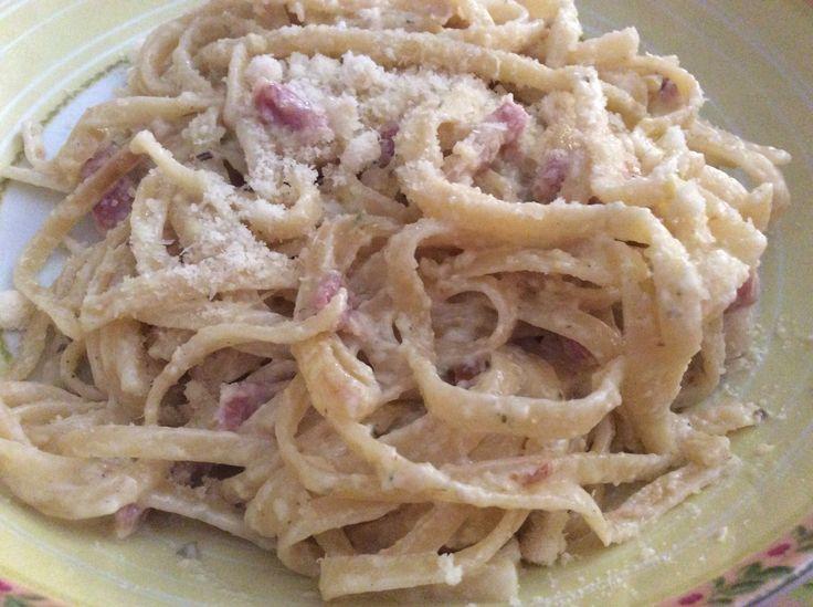 Spaghetti carbonara, menú PASTA olla GM F