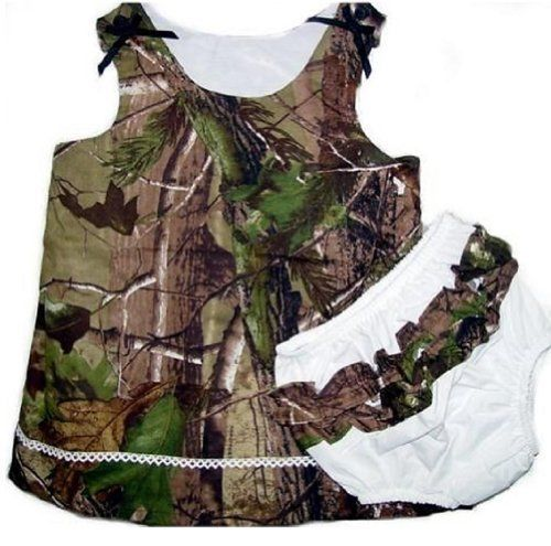 Realtree Camo Dress Infant Baby Toddler Girls Camouflage Jumper Dress & Panty 6M