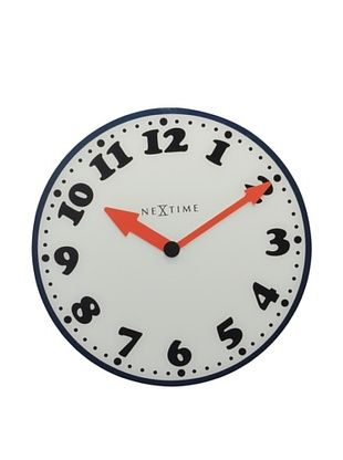 nexttime boy clock boy clock cartoon inspired glass wall clock features a torque movement requires one aa battery not included w x d x h