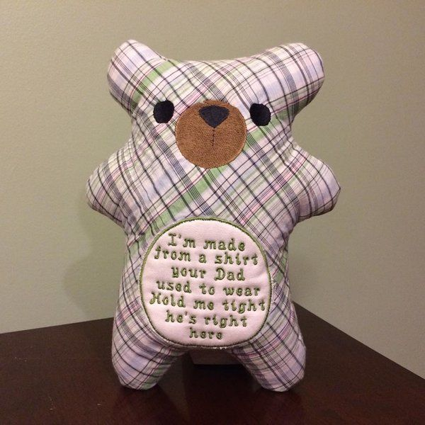 11 best bereavement gift ideas images on pinterest bereavement loved one memory bear dads shirt bear favorite pjs bear belinda lee designs negle Choice Image