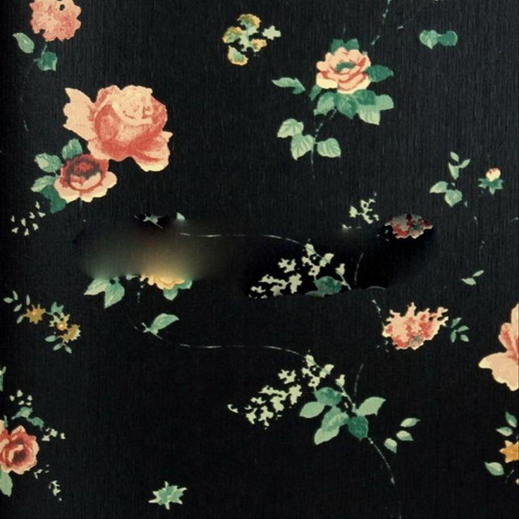 Wallpaper Hd Bunga Hitam Exxclusive Wallpaper Bunga Floral Flower Hitam Shabby Chic Vintage