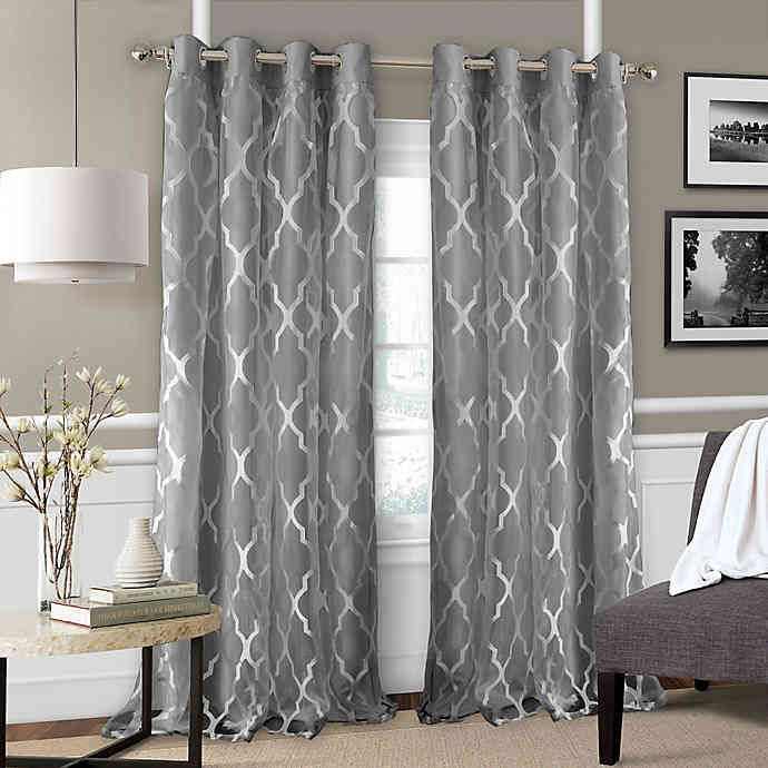 Bethany Grommet Sheer Window Curtain Panel Panel Curtains Curtains Elrene Home Fashions