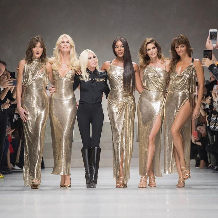 The OG Supermodels Reunited On The Versace Runway And It Was Everything