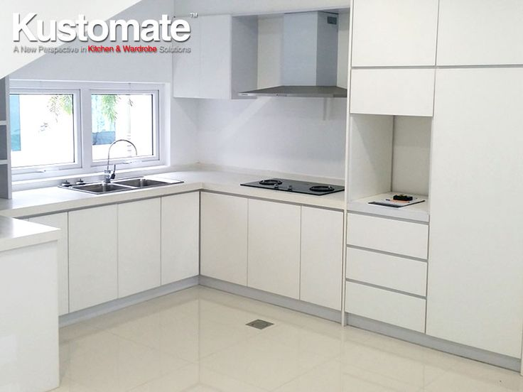 White Melamine Kitchen Cabinet Design Build For Dry Amp