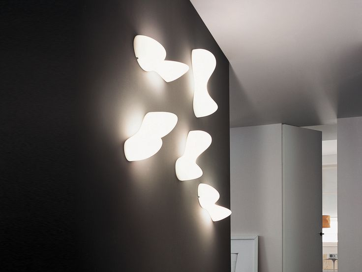 The foscarini blob light can be attached to both the wall and ceiling they are a practical lighting structure that also acts as an architectural feature