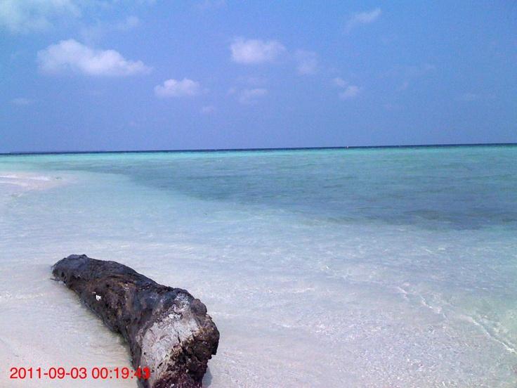 white sands in karimun java's islands