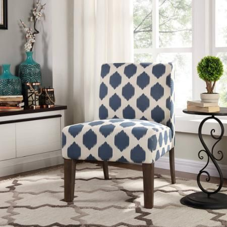 Better Homes And Gardens Watercolor Slipper Chair   Walmart.com