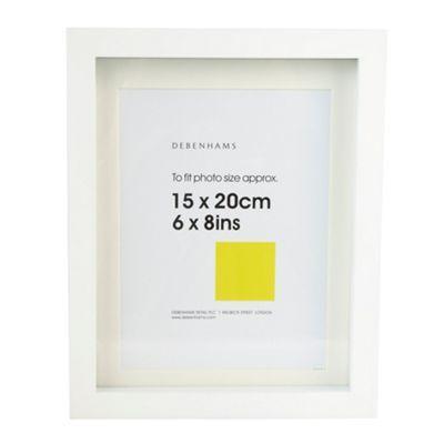 View Wedding Gift List Debenhams : Debenhams White 15x20cm block photo frame- at Debenhams.com Wedding ...