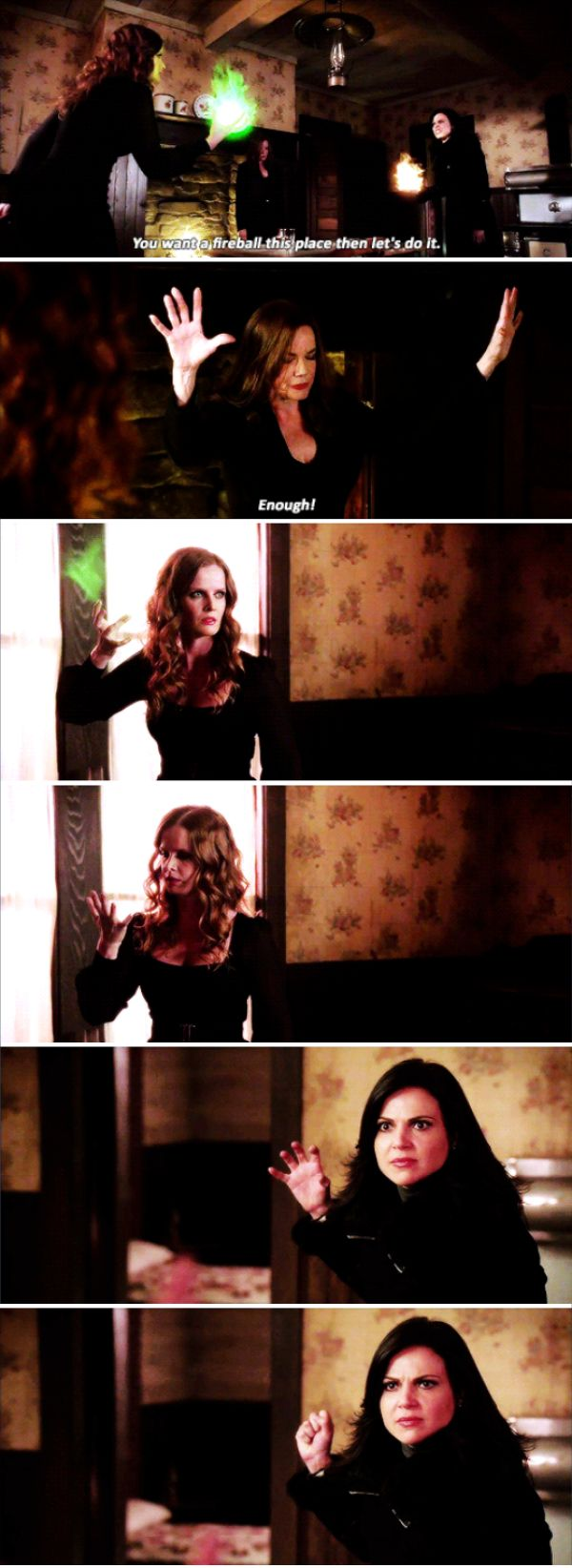 """""""You want to fireball this place then let's do it"""" - Regina, Zelena and Cora #OnceUponATime"""