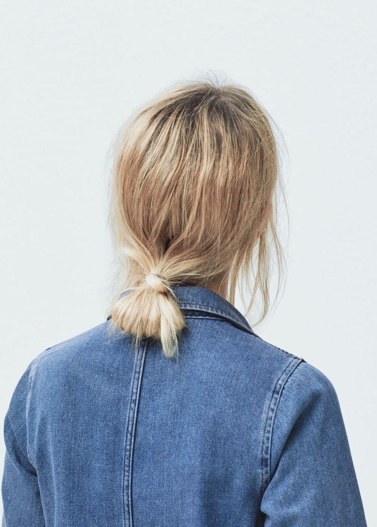 Low, easy ponytail