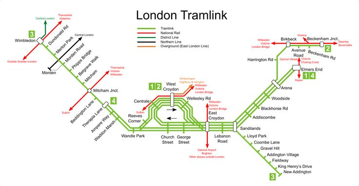 Croydon Tramlink map