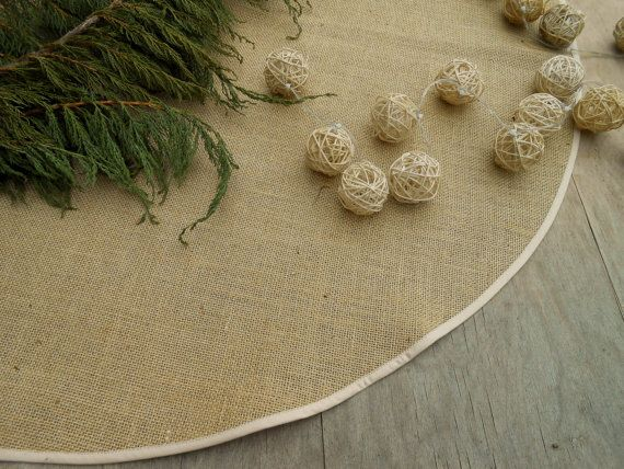 Christmas Burlap Tree Skirt Rustic Christmas Tree Skirt Christmas Decor Country Christmas Tree Skirt Rustic Christmas Decorations Burlap