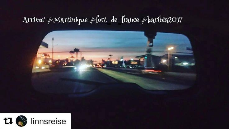 God morgen fra #Martinique. #reiseliv #reisetips #reiseblogger  #Repost @linnsreise with @repostapp  Arrived with the sunset #Martinique #Karibia2017 #frenchcaribbean #nomaden #nordicTB