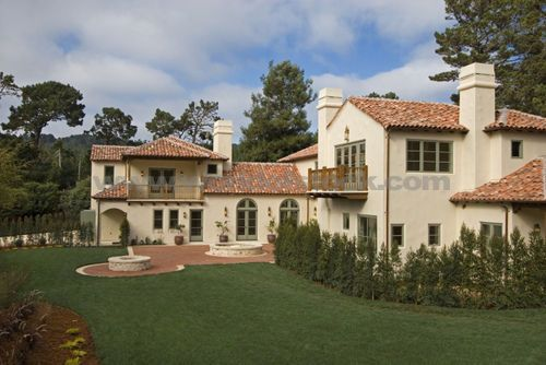 Spanish Style Stucco Exterior And Home Color Schemes On