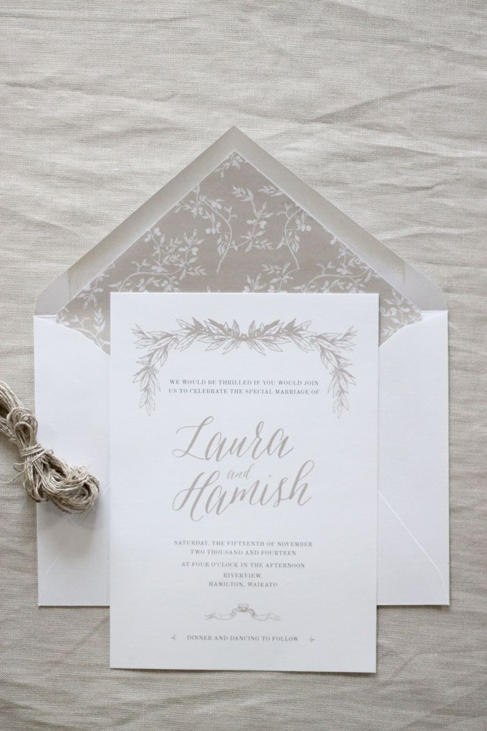 Wedding Invitation Design by Just My Type