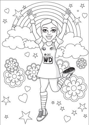 The NSW Swifts colouring in page