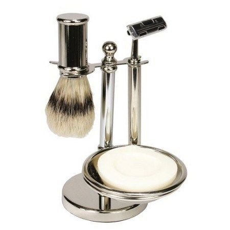 A silver-plated shaving set that shouldn't be hidden away in a bathroom cupboard. | 26 Gifts That Only Look Expensive