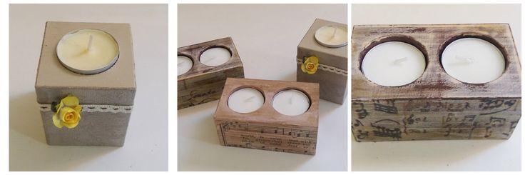 Wooden bases for Tea-Lights