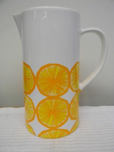 Marimekko Finland 1 Pitcher Orange Design Maija Isola | eBay