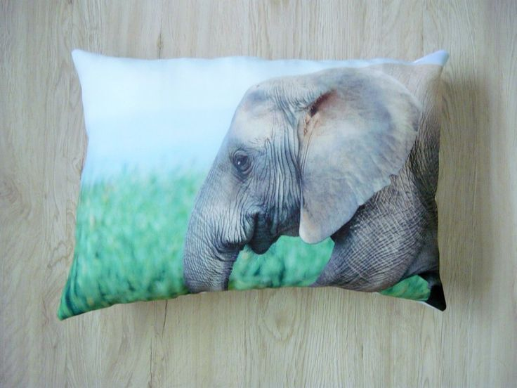 Wildlife Scatter Cushion - Baby Elephant by Inspired Art From The Heart