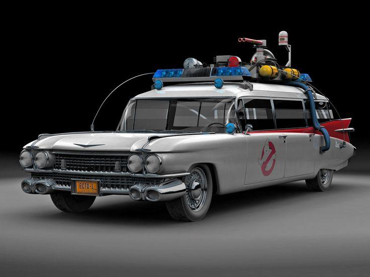 1959 Cadillac Miller-Meteor Ambulance  Cadillac conhecido como Ecto-1, do filme Caça Fantasma (Ghostbusters).