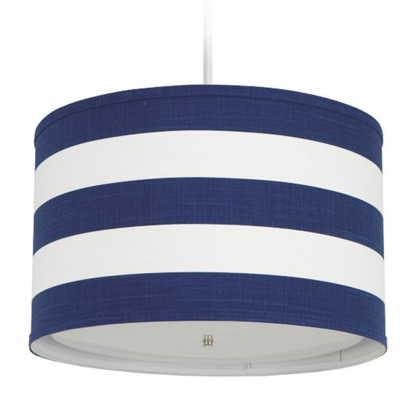 Oilo Cobalt Blue Striped Cylindrical Pendant Light (295 CAD) ❤ liked on  Polyvore featuring - Best 20+ Blue Pendant Light Ideas On Pinterest Blue Light Bar