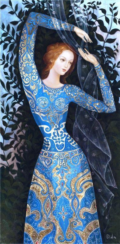 Blue Princess by Daniela Ovtcharov Illustration Fairy Tale