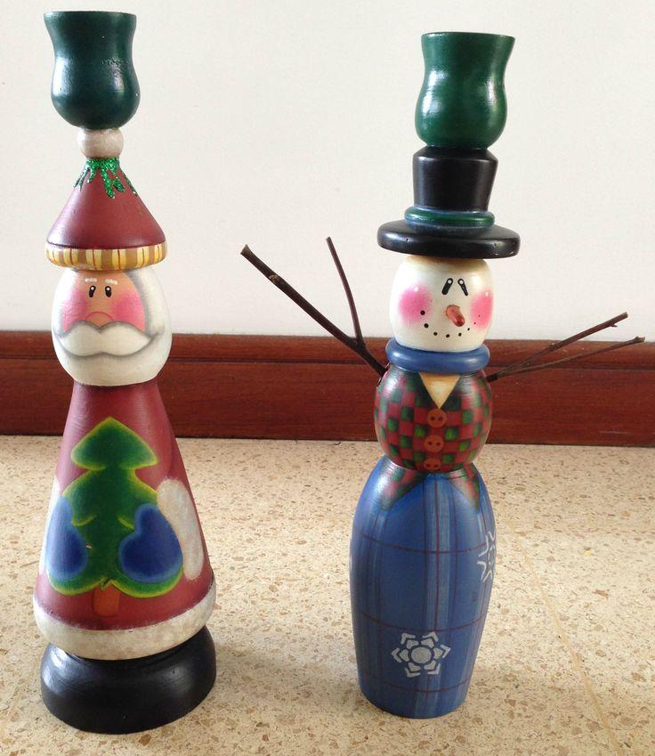 Candelabro Santa y Snowman