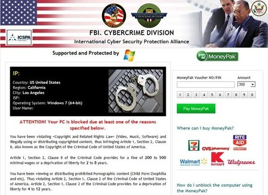 Generally speaking, FBI Cybercrime Division is a rip-off that you shouldn't trust it at all.