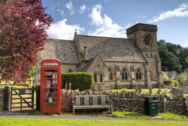 Cotswold church, Snowshill