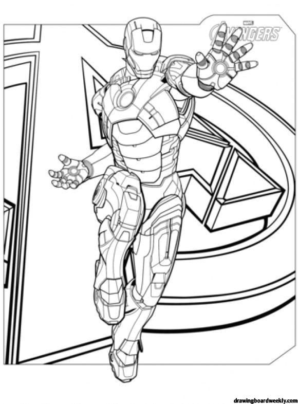 Coloring Page Iron Man Hd Avengers Coloring Pages Superhero