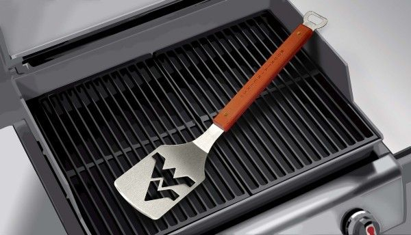 The Sportula is a heavy duty stainless steel grilling spatula designed for the ultimate tailgater. #WVUMND