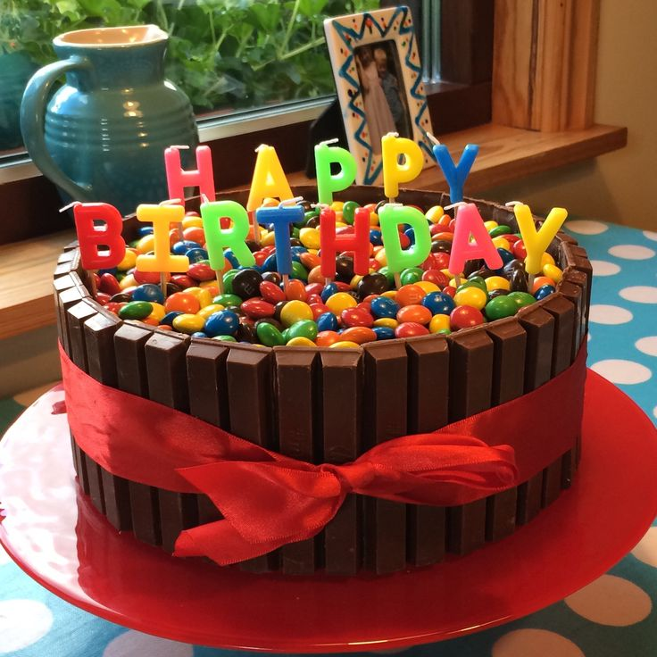 M&M KitKat Birthday Cake