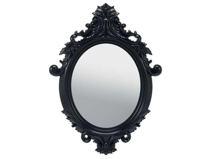 Conforama miroir 55x75 cm so pretty coloris noir vente for Miroir noir film