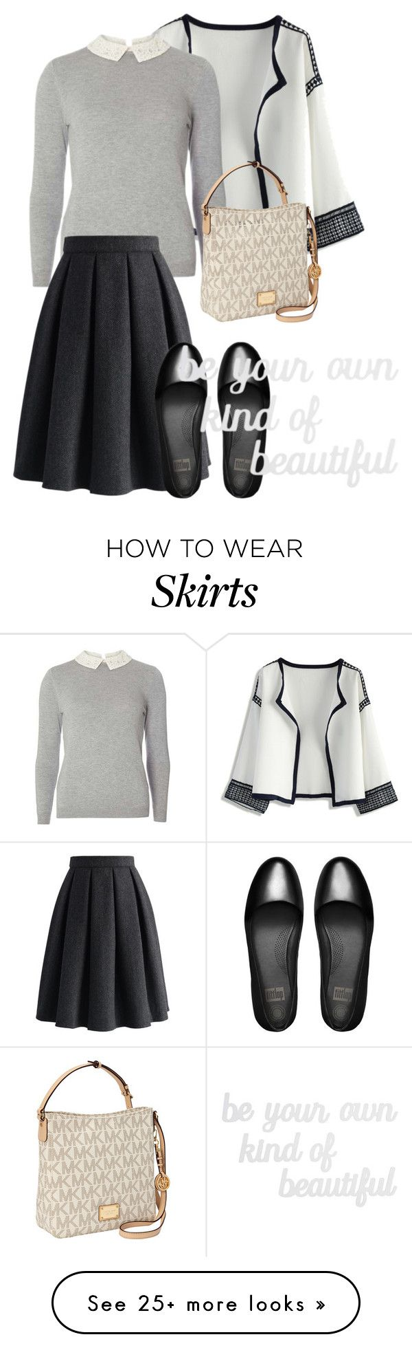 """""""bag"""" by masayuki4499 on Polyvore featuring Chicwish, Dorothy Perkins, MICHAEL Michael Kors, FitFlop and PBteen"""