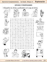 Resultado de imagem para ejercicios las profesiones para niños