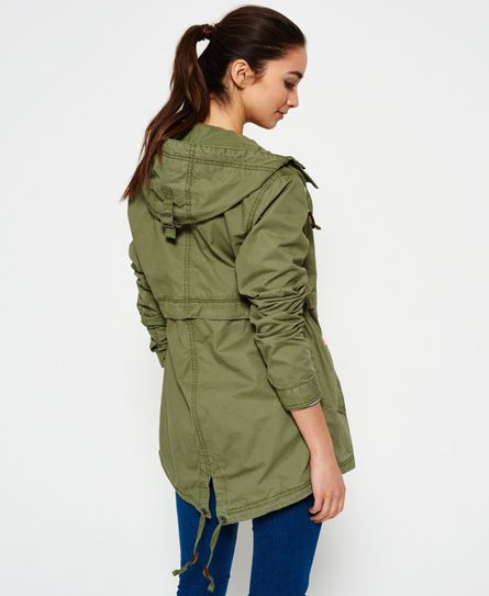 Superdry Classic Rookie Fishtail Parka Jacket  Green