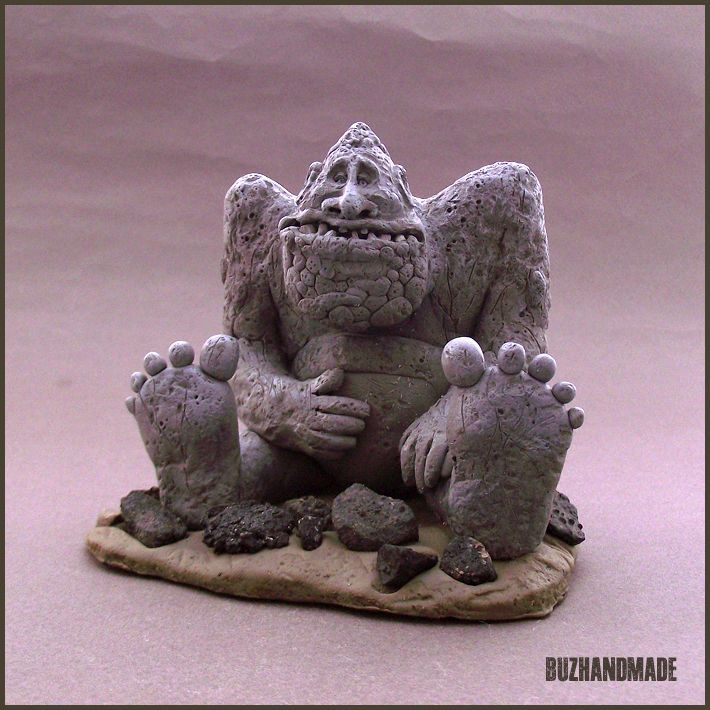 I love this!!!! RockBiter | NeverEnding Story | Polymer CLAY sculpture | BUZHANDMADE
