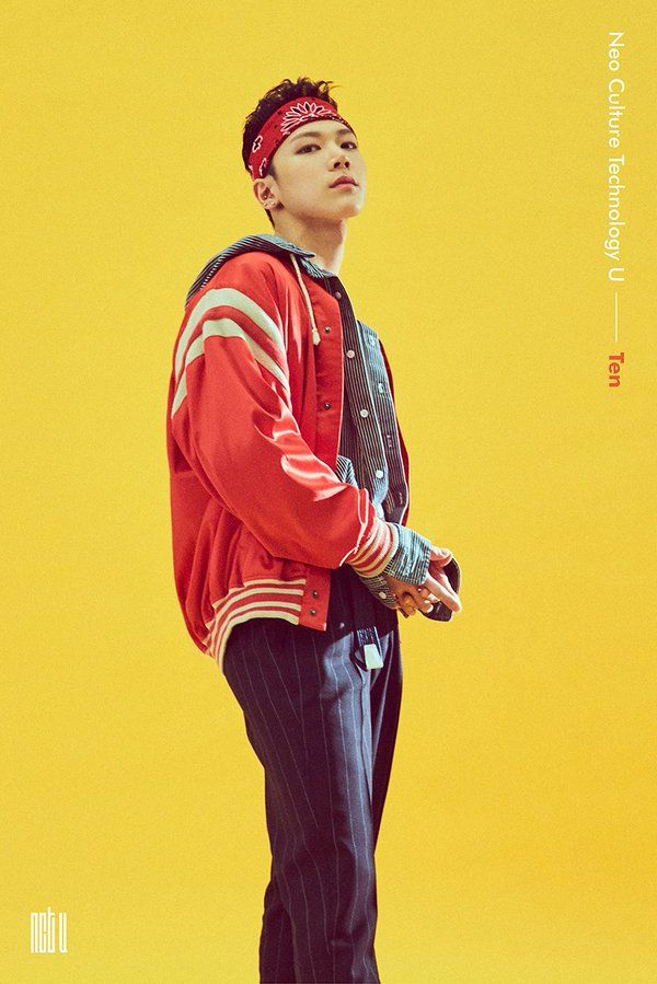 NCT Ten - I freaking love his hair like this.. Wish it would become his signature style <3