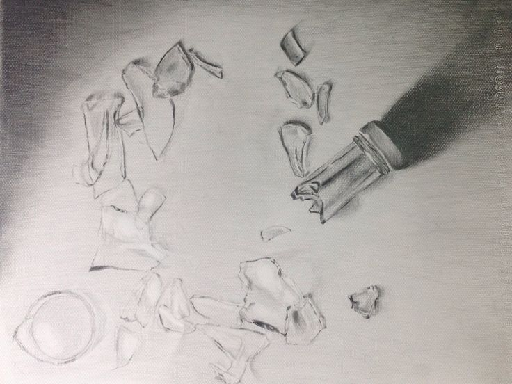 broken glass pencil drawing | My work | Pinterest | Pencil ...
