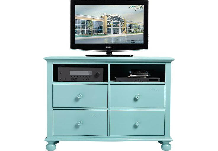 Cindy Crawford Home Seaside Blue Green Media Chest  .499.99. 50W x 19D x 36H. Find affordable Queen Bedroom Sets for your home that will complement the rest of your furniture.  #iSofa #roomstogo