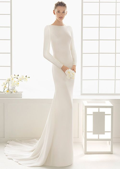 Brides: Wedding Dress Trend: '90s Minimalism