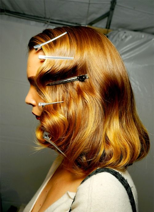 *good way to create finger wave look