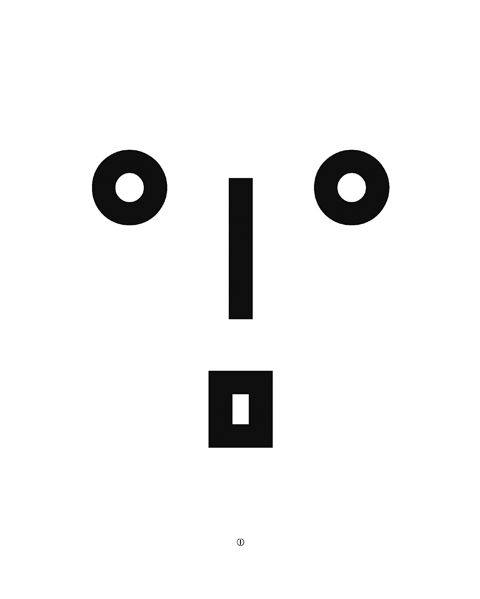 Korean Hangeul face typography by Koo Ja-eun