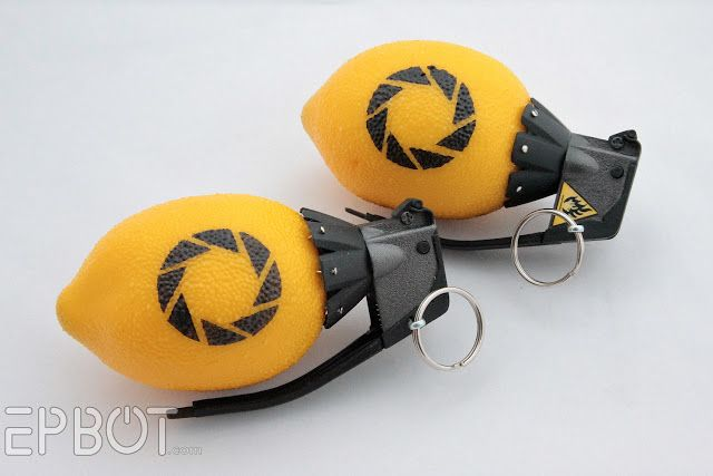(EPBOT: DIY Portal 2 Lemon Grenade) This is so easy to make, and absolutely, ridiculously awesome. Take back those lemons, life!