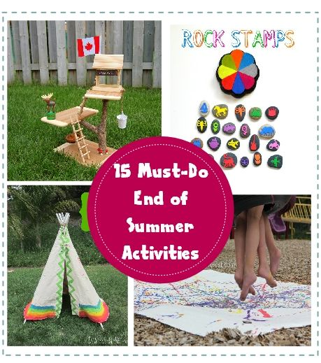 15 Must-Do End of the Summer Activities for Kids